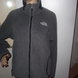 Womens northface fleece sherpa gray jacket Medium